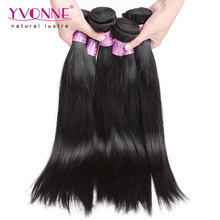 4Pcs/lot Virgin Peruvian Straight Hair,100% Remy Human Hair Weave,8-28 Inches Aliexpress Yvonne Hair,Natural Color