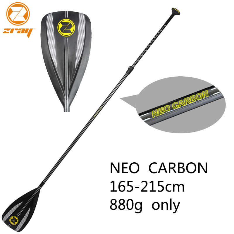 Z RAY 165-215cm SUP noir extensible en carbone pagaie rame SUP stand up paddle board surf en fibre de verre arbre bateau gonflable