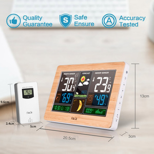 Image 5 - FanJu Weerstation Digitale Klok Muur Alarm Draadloze Sensor Thermometer hygrometer Barometer Weerbericht Tafel Desktop FJ3378