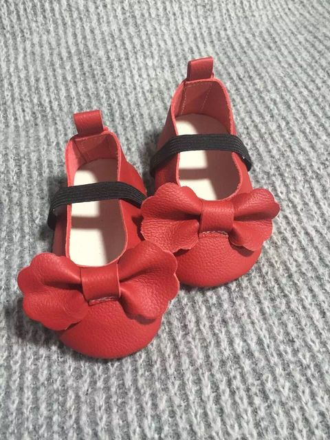 Новый Фирменный высочайшее качество Красный Мэри Джейн Натуральная Кожа Лук Малышей Девочка Мокасины Принцесса Мягкой Подошве Обувь Первые Ходоки