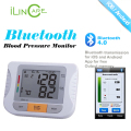Digital Bluetooth 4.0 Upper Arm Blood Pressure Monitor Health Gurus Easy to Read Backlit LCD for iOS+Android Devices