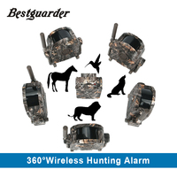 SY 007 360 Degree Wireless Hunting Trail Security Alarm Motion Dectect 1x Receiver 5 Detector Free