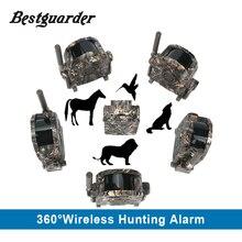 SY-007 360 degrés Sans Fil Chasse Trail Sécurité Alarme de Sécurité de Mouvement PIR Détecteur Récepteur 100 Mètres De Transmission D'alarme