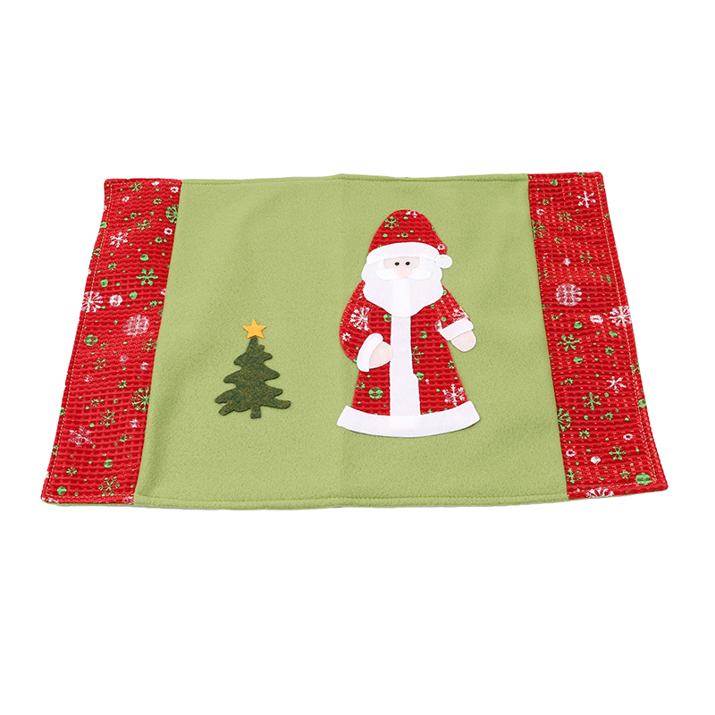 44*28cm Christmas Table Mat Knife Fork Cover Xmas Dish Cup Non-slip Pad Santa Snowman Pvc Kitchen Tableware Mats Xmas Decor High Quality And Inexpensive Table Decoration & Accessories