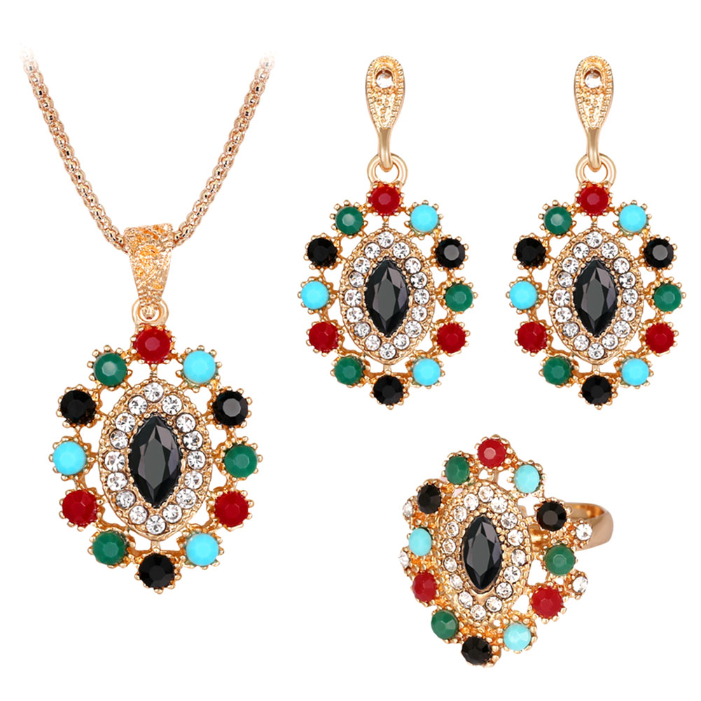 Style 123319 Diamontrigue Jewelry: 2017 Fashion Jewelry Sets Hollow Carved Ethnic Bohemian