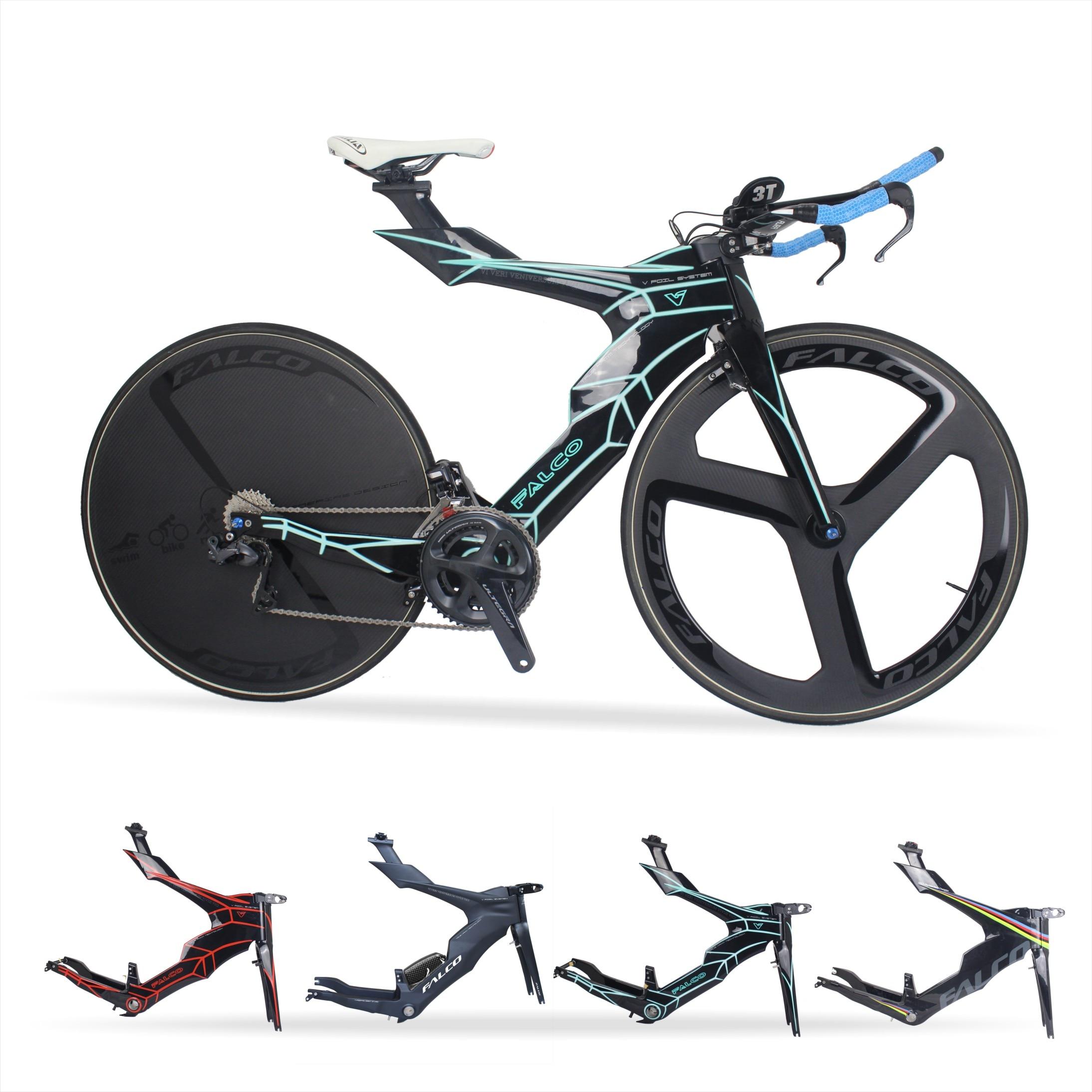 FALCO V-Bikes Triathlon Bikes Carbon Fiber Frame Time Trial TT Frame 50 54 57cm