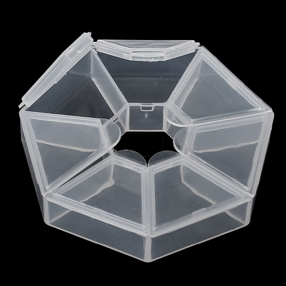 DoreenBeads 2 Beads Storage Containers W/7 Compartments 9x9x2cm (B11991)