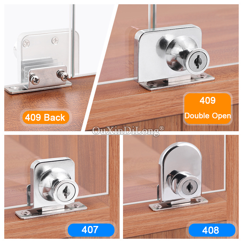 BRAND NEW 50Sets Glass Cabinet Locks Shopping Mall...