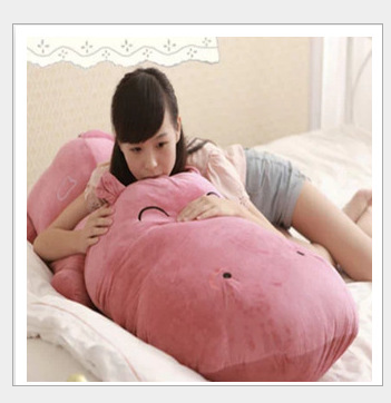 huge lovely plush cartoon hippo toy big dark pink hippo doll gift about 160cm 0407 huge lovely panda toy big plush panda with stripe clothes birthday gift about 90cm