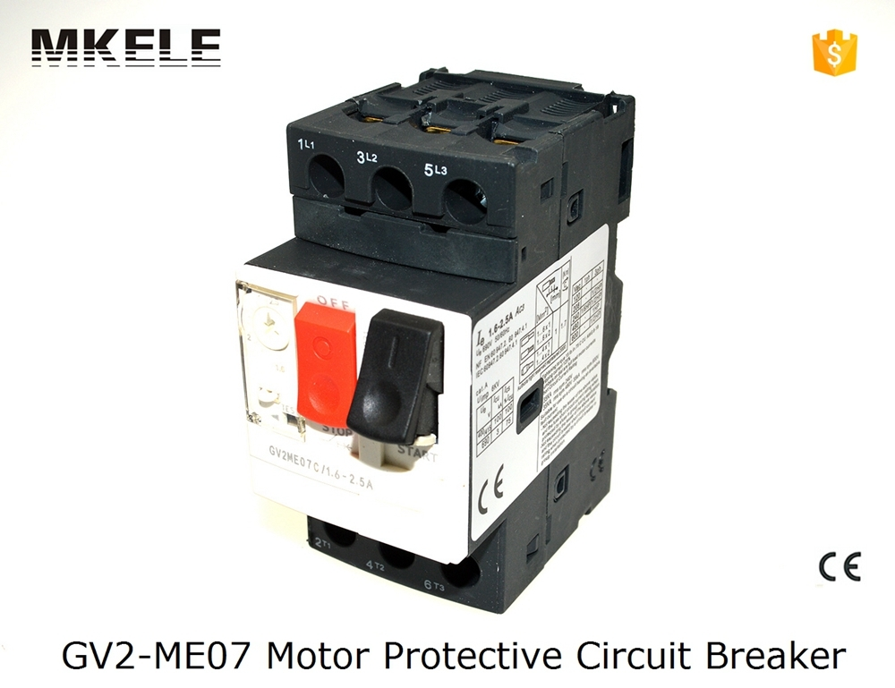 GV2 ME07 China factory supply GV2 ME Motor Protector Circuit Breaker soft starter 50 60Hz 660V GV2 ME with low voltage in Circuit Breakers from Home Improvement