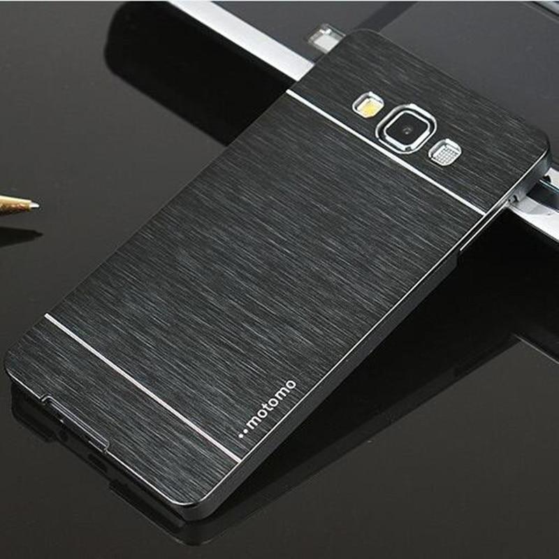 For Samsung Galaxy A3 A5 A7 J3 J5 J7 2015 Luxury Motomo Aluminum Metal Brush Hard Cover For Coque Samsung Galaxy A3 2016 Case