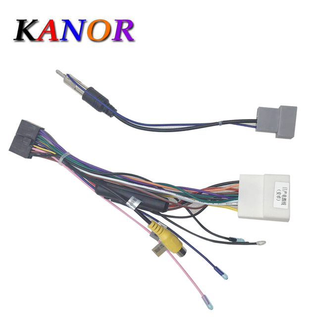 Power Adapter Wiring Harness Connector Iso Cable Used In Kanor Brand Nissan Speaker Wire Adapters Dvd