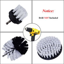 3 pcs/set Power Scrubber Brush Drill Clean for Bathroom Surface Tub Shower Tile Grout Cordless Scrub Cleaning White