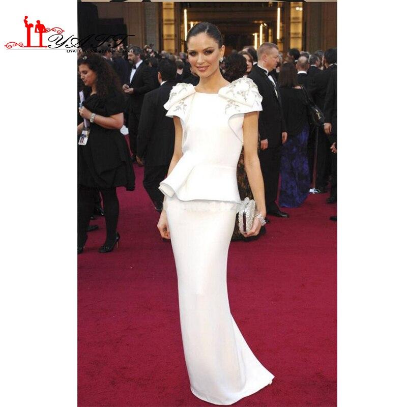 0eabcb4b479 Кайли Дженнер Платье Европа Русалка Белый Бисероплетение Длинные  Знаменитости Пром Платья Дизайнеры Известных Звезд Red Carpet Vestidos  Largos купить на