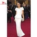 Kylie Jenner Dress Europe Mermaid White Beading Long Celebrity / Prom Dresses Designers Famous Stars Red Carpet Vestidos Largos