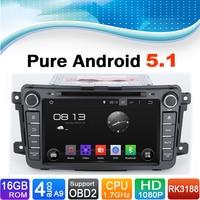 Чистый андроид 5.1.1 Системы автомобиля Развлечения Автомобильный мультимедийный Системы для Mazda: CX 9 (2012)