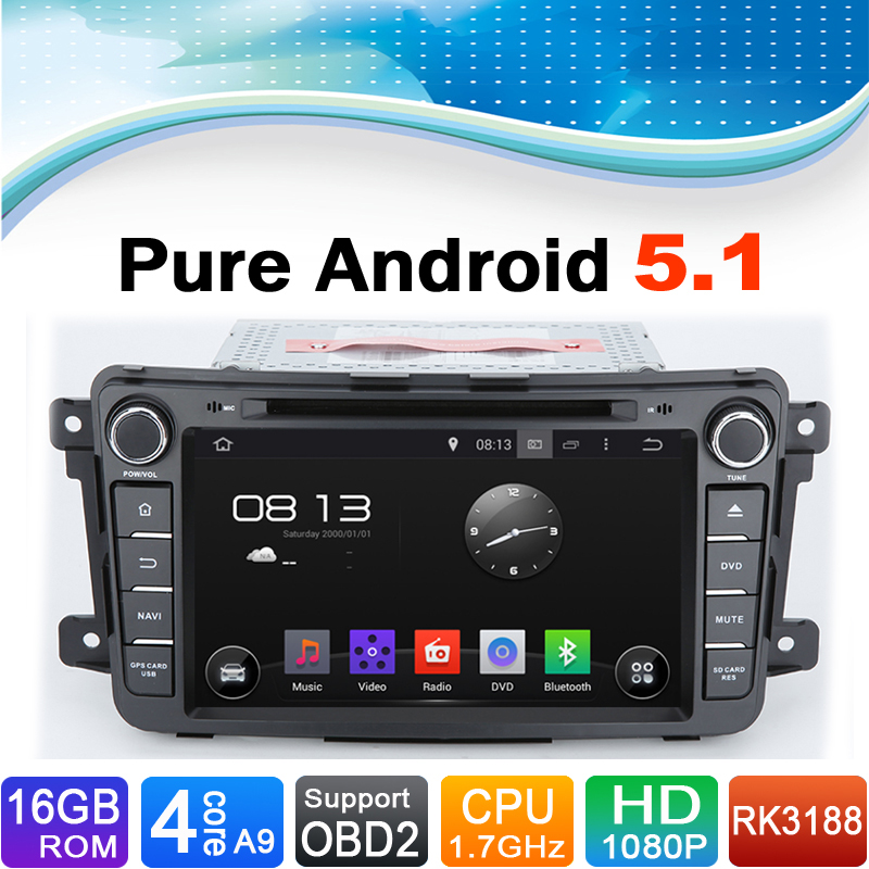 pure android 5 1 1 system car entertainment car multimedia. Black Bedroom Furniture Sets. Home Design Ideas