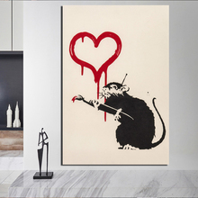 Banksy Rats Graffiti Canvas Painting Prints Living Room Home Decoration Modern Wall Art Oil Posters Pictures Framework