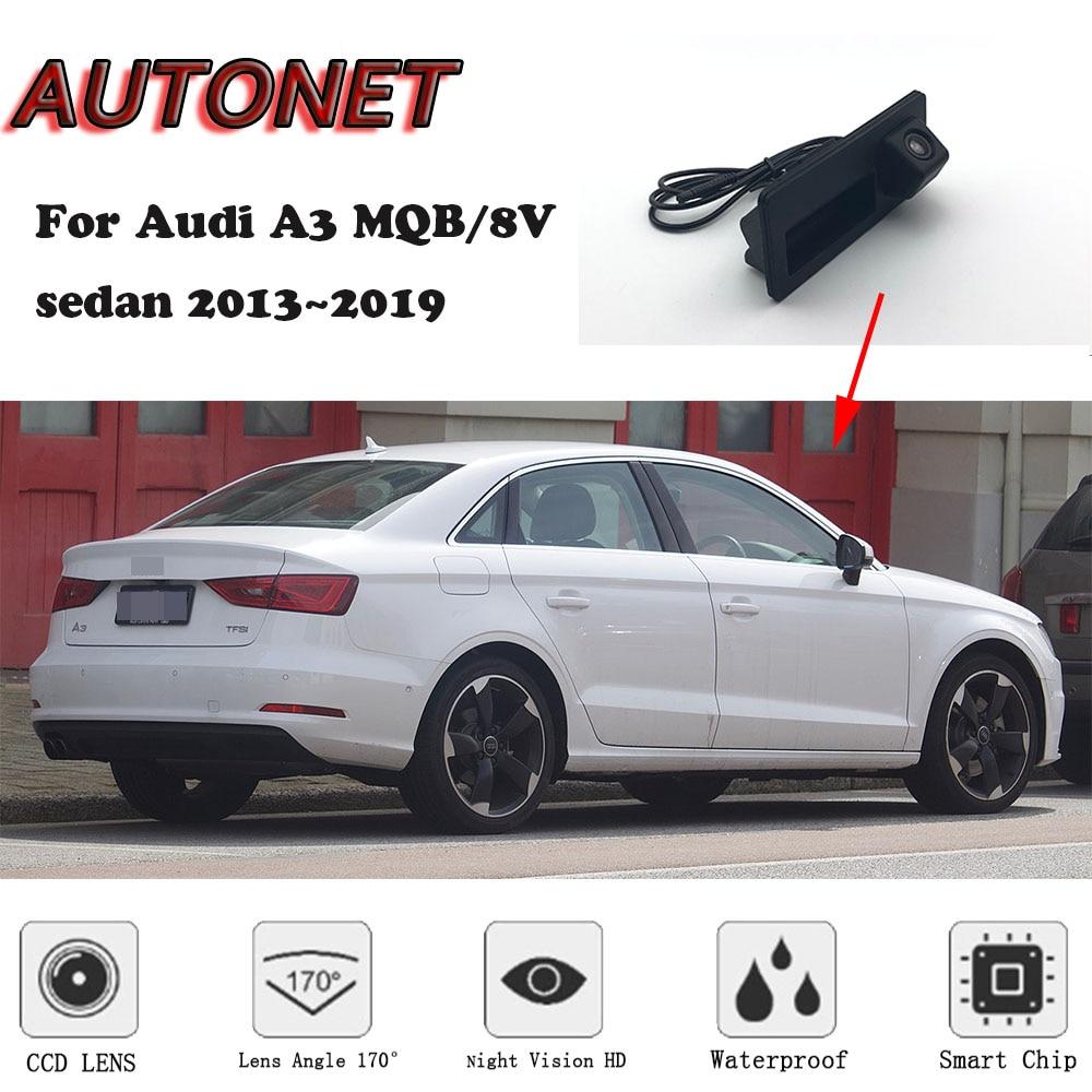 AUTONET Car Trunk Handle Camera For Audi A3 MQB/8V Sedan 2013 2014 2015 2016 2017 2018 2019Night Visioin Backup Rear View Camera