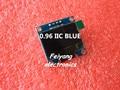 "1 шт. 0.96 ""голубой 0.96 дюймов OLED модуль Новый 128X64 OLED LCD LED Дисплей Модуль Для Arduino 0.96"" IIC I2C Общаться"