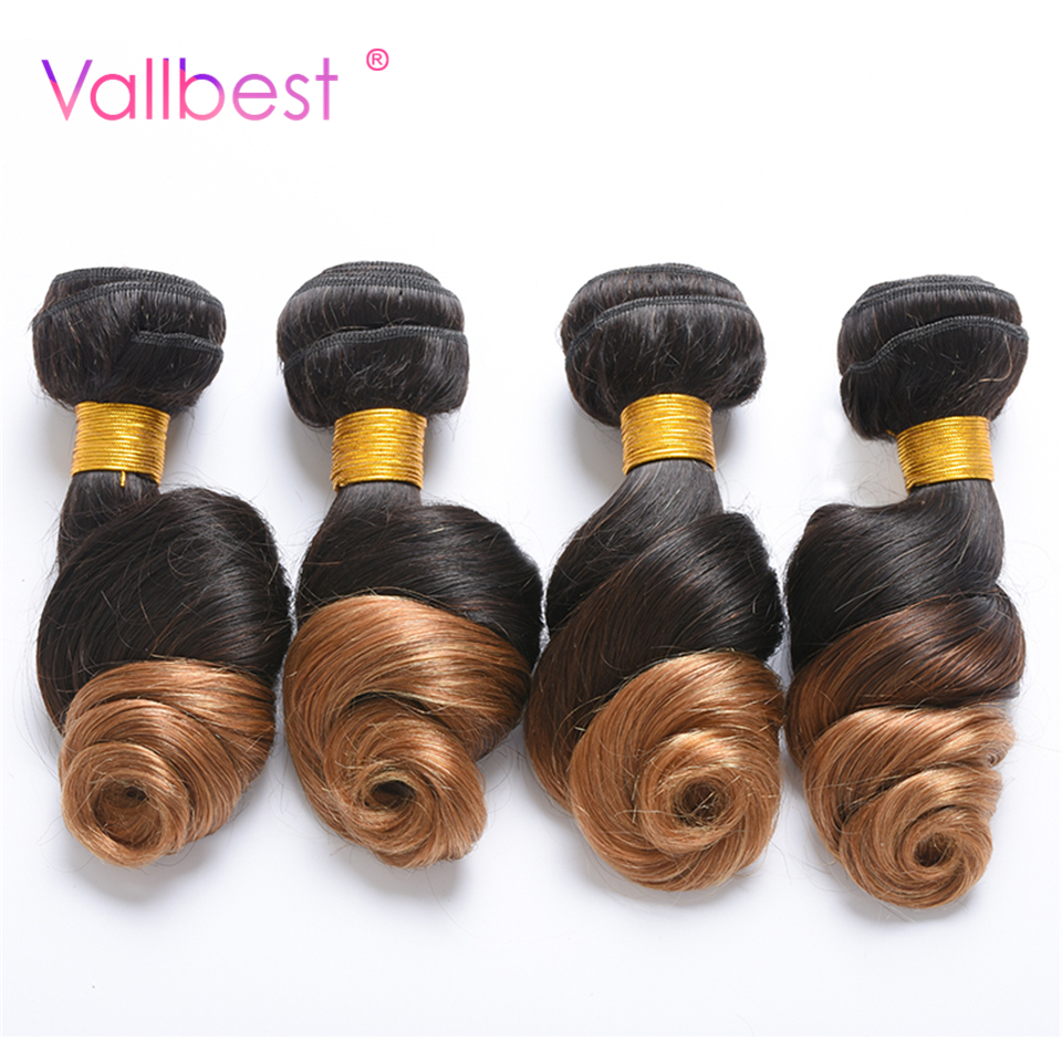Vallbest Brazilian Loose Wave Ombre Hair Bundles Brazilian Hair 1B 27 Color Human Hair Bundles 100g
