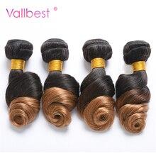 Vallbest бразильский свободная волна Ombre волосы расслоения бразильского волос 1B/27 Цвет Человеческие волосы Связки 100 г/шт. двойной утка номера remy