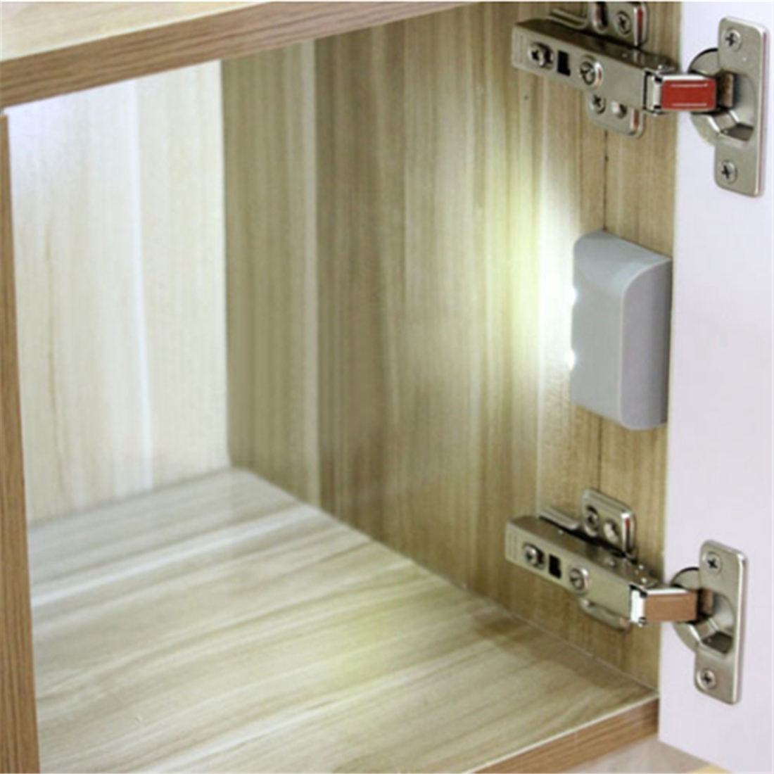 Battery Powered LED PIR Motion Sensor Inner Hinge Light Wireless Cabinet Wardrobe Drawer Lamp цена