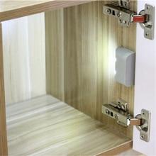 Battery Powered LED PIR Motion Sensor Inner Hinge Light Wireless Cabinet Wardrobe