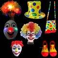Moda Multitiendas Estilo Sombrero de Payaso Peluca de Pelo Máscara Zapatos Bolsa Mago Cosplay Atrezzo Decoración Del Partido