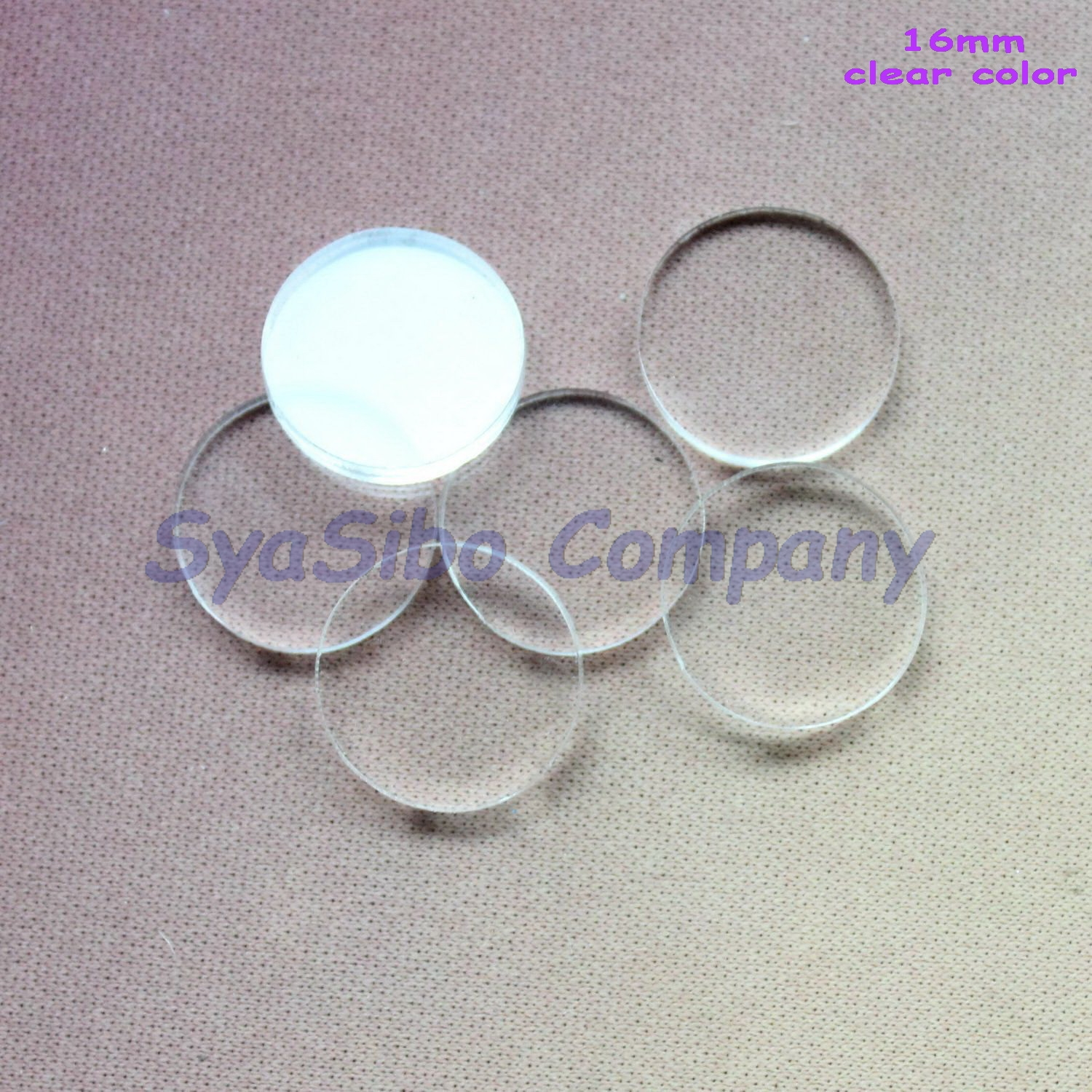 Acrylic clear ornaments -  100pcs Lot 16mm Clear Acrylic Disc Beads Polished Acrylic Circle Ornaments Bulk Laser