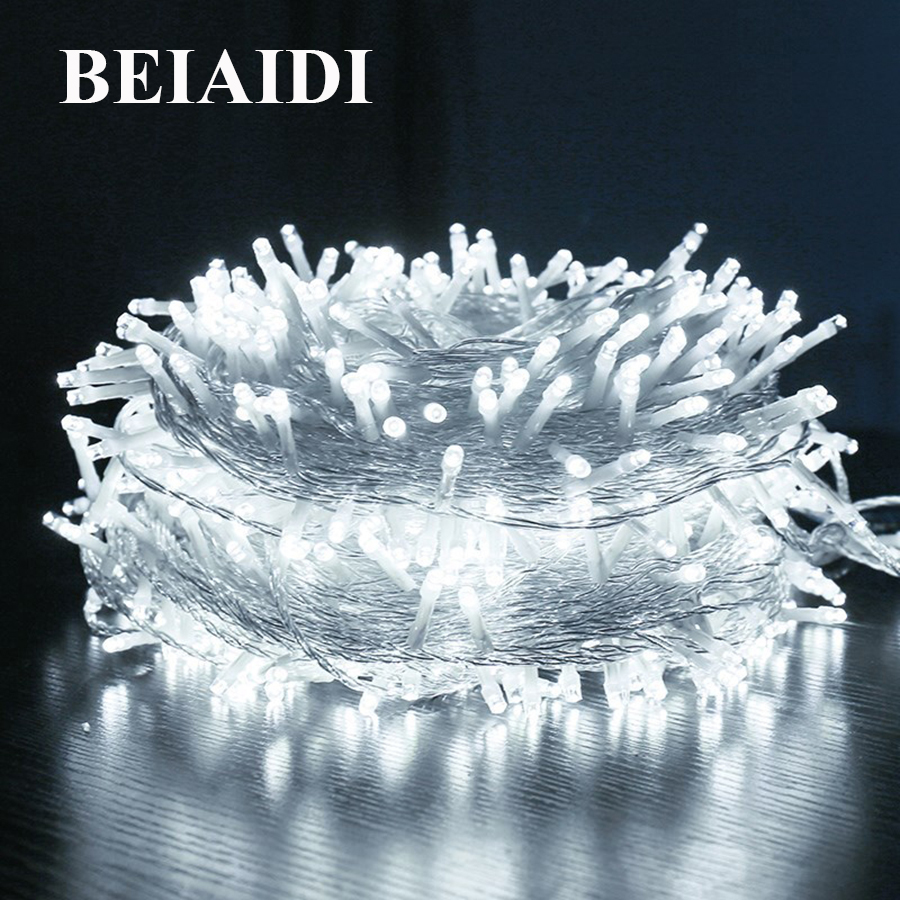 BEIAIDI 100M 800 LED Festoon LED String Fairy Light Garland Outdoor Garden Patio Wedding Party Holiday