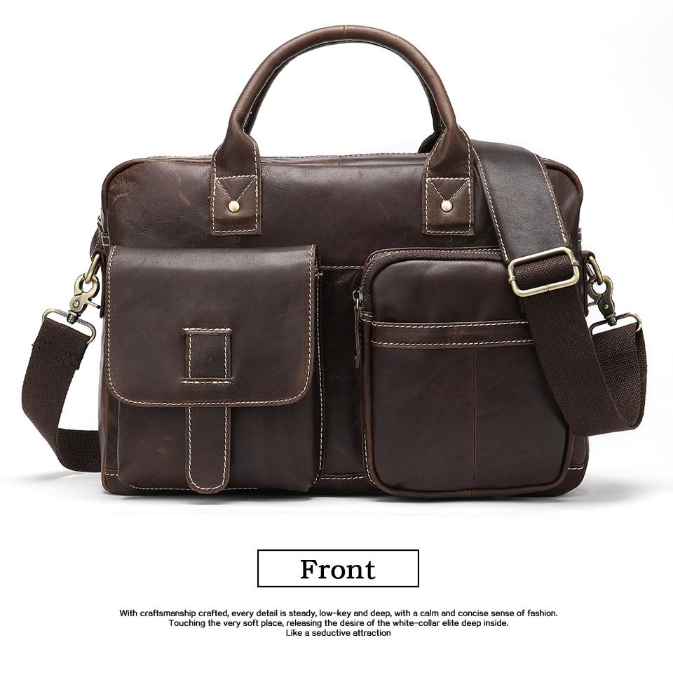 HTB19kDvasfrK1Rjy1Xdq6yemFXaK WESTAL men's briefcase bag men's genuine Leather laptop bag office bags for men business porte document briefcase handbag 8503