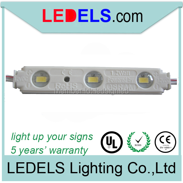 CE/RoHs 1.2W compliant high lumen osram 5630 led strip module for signage 100pcs/Lot ...