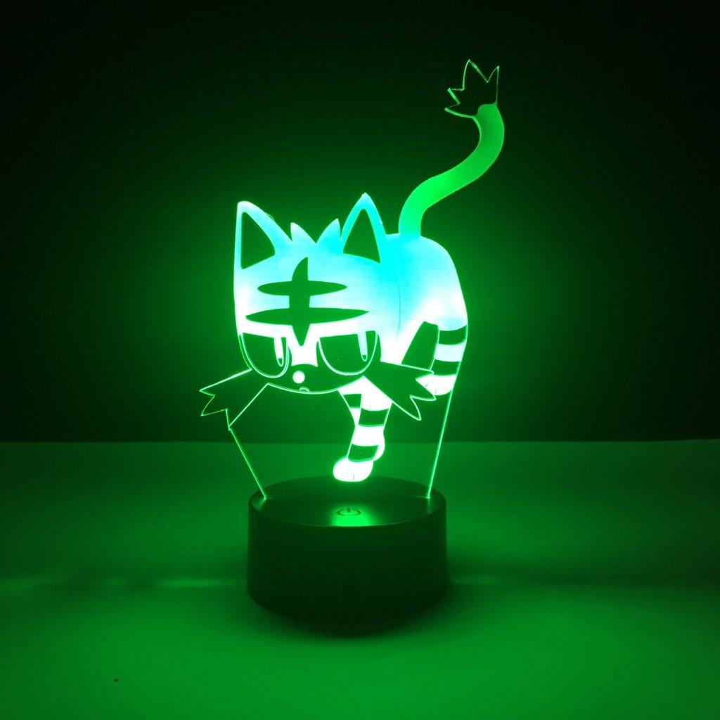 Kid Led Nightlight Litten Pokemon Go Fire Cat Night Light For Children's Bedroom Decor Light Holiday Gift Baby Led Night Lamp 3d