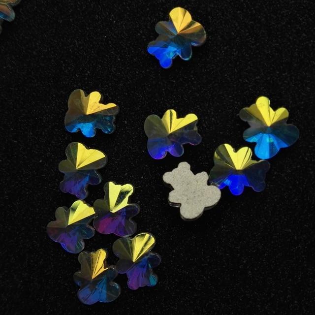 288pcs A2252 6x7mm Non HotFix FlatBack Crystal AB  Fancy Crystal Store Bear shape, Glass Flat Back Jewels sewing accessories