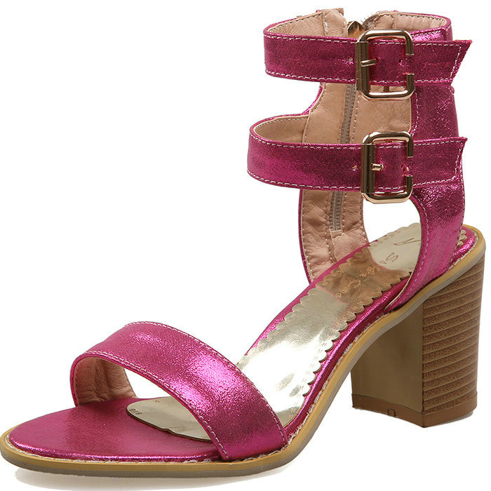 2017 Summer Gladiator Sandals Women Sandals Thick High Heels Platform Shoes Woman Ankle Strap Sandals New Rome Style Gold Silver phyanic platform gladiator sandals 2017 new casual wedge shoes woman summer women ankle boots side zipper party shoes phy5036