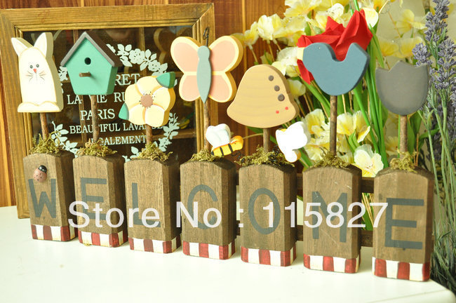 Vintage Style welcome board wooden board house or shop decoration Butterfly design screen