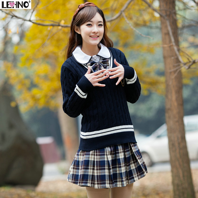 add62a521 Girls school uniform sweater preppy style sailor suit autumn and winter  fashion preppystyle school wear