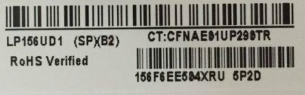 LP156UD1 SPB2 LP156UD1 SP B2 LP156UD1 SP B2 IPS LED Screen LCD Display Matte Matrix for