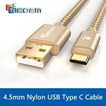 Tiegem Тип USB C кабель USB c 3.1 Тип-C быстрой синхронизации и зарядный кабель для Huawei P9 Коврики 9 HTC 10 LeEco 2 zuk z1 z2 Sony USB-C