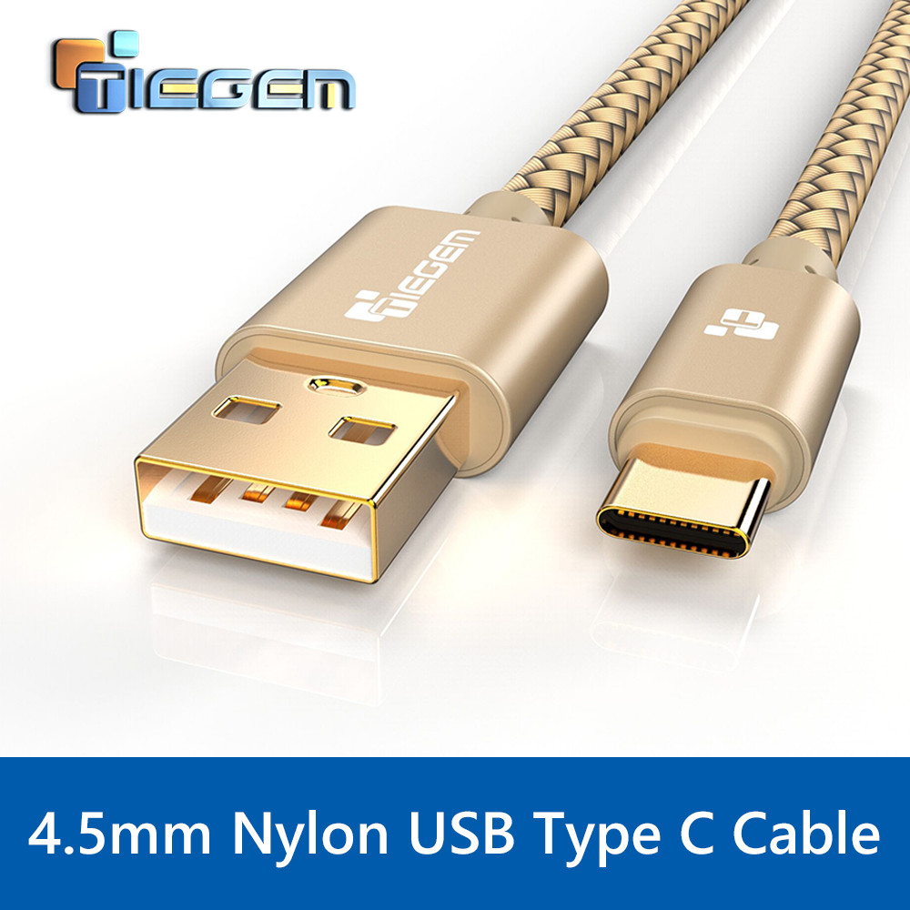 TIEGEM USB-typ C-kabel USB C 3.1 Type-C Snabb synkronisering & laddningskabel för Huawei P9 Mate 9 HTC 10 LeEco 2 Zuk z1 z2 Sony USB-C