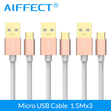 AIFFECT 3 PCs New Arrival Sales Micro USB Cable High Speed Micro-USB Cable Micro B to USB Data Cable Charging Cable Cord 5FTx3 недорго, оригинальная цена