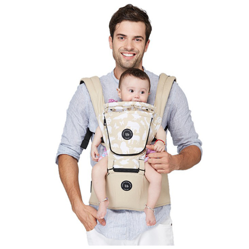 Multifunctional Four Seasons Breathable Animal Print Window Detachable Headset Baby Waist Bags Baby Shoulder Belt budou four seasons multifunctional baby suspenders newborn baby stool for children breathable suspenders belt