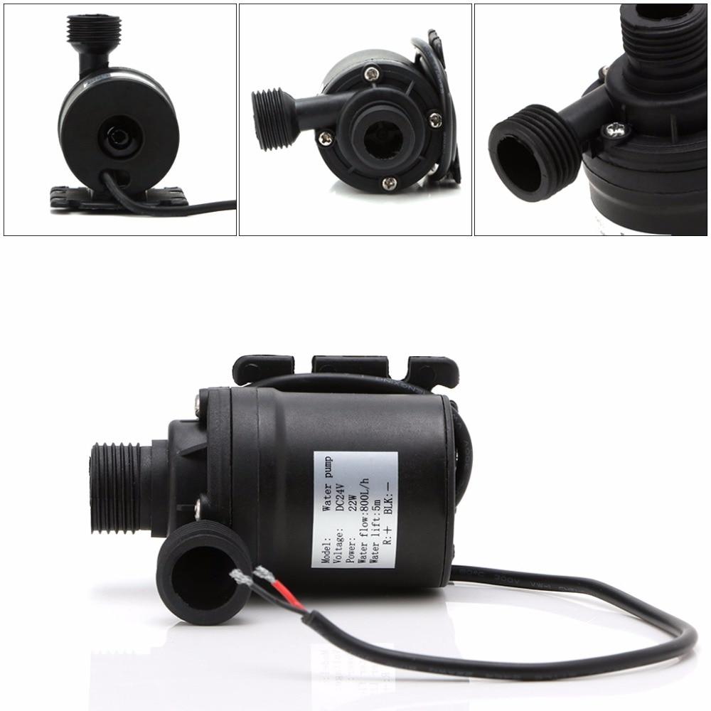 800L/H 5M Water Submersibles Pumps DC 12V/24V Solar Brushless Motor Water Circulation Pump
