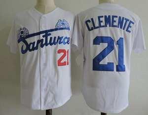 4c9f7917b0d BONJEAN 21 Roberto Clemente Retro White Stitched Button Down Shirts