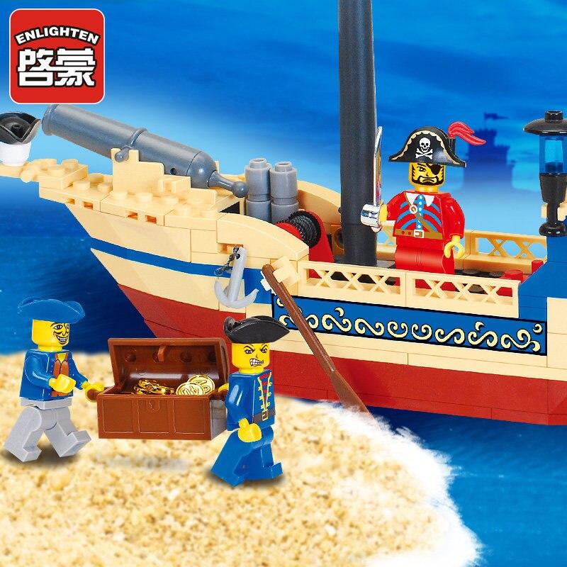 Opplys Intellektuell Montering Leker 304 stk Pirat Ship Building - Bygg og teknikk leker - Bilde 4