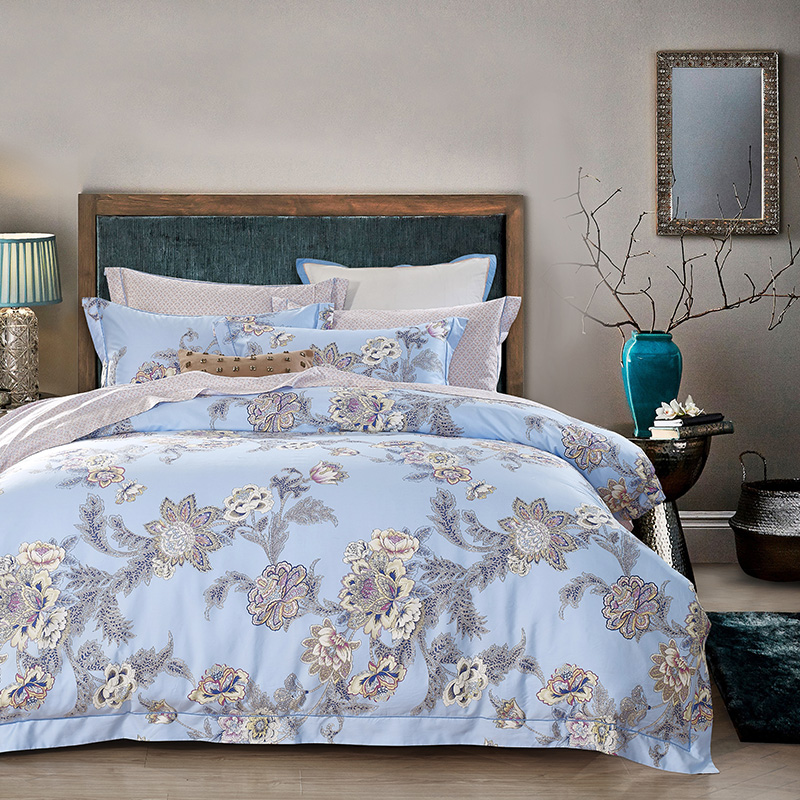 Lovely 500TC Luxury Supima Cotton Beautiful Garden Flower Printed 80s Bed Set Flat  Sheet Pillowcase King Queen Size In Bedding Sets From Home U0026 Garden On ...