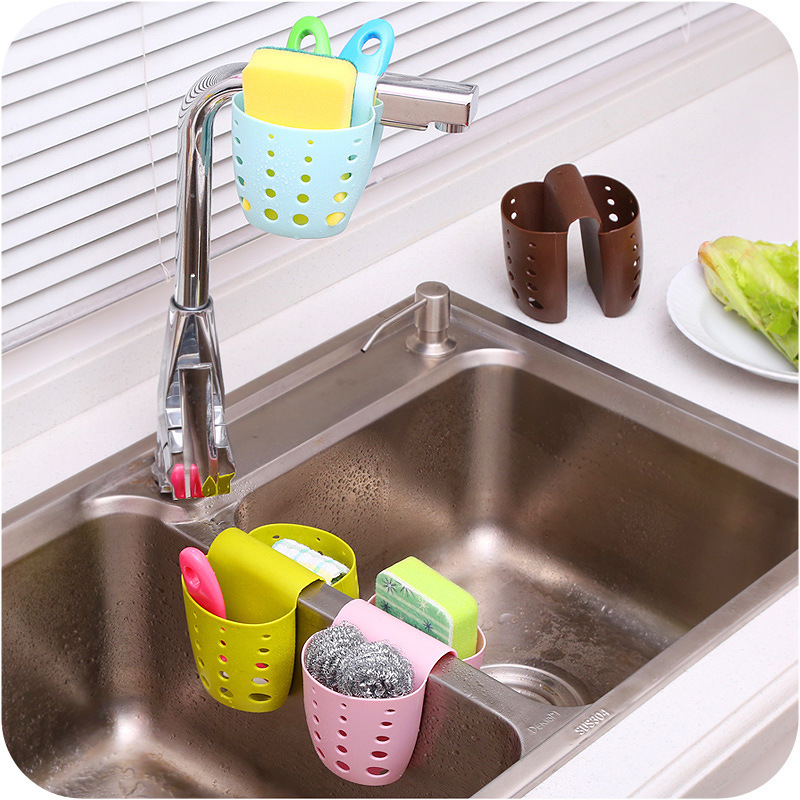 Kitchen Sink Shelf Soap Sponge Drain Rack Bathroom Holder Kitchen Storage Suction Cup Kitchen Organizer Sink kitchen tool