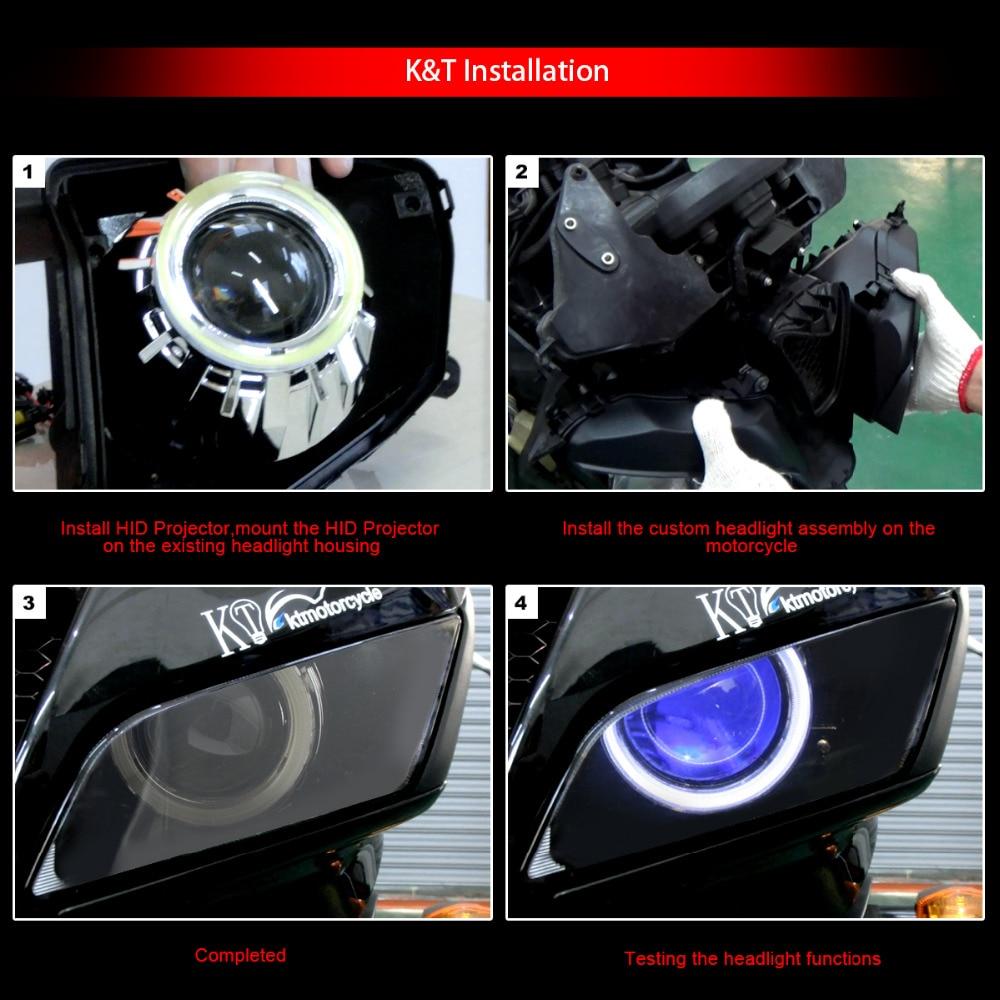 LED Devil Angle Eye HID Demon Eye Projector for Kawasaki ZX6R 2005 2006