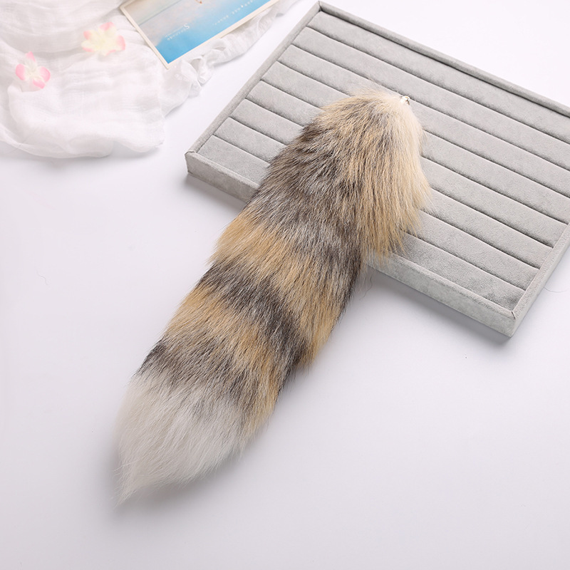 New Pattern Fox Fur Grass Imported 40cm Really Maohuli Baby Tail